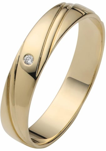 Firetti Trauring mit Gravur »glanz, Diamantschnitt, 4,0 mm breit«, Made in Germany,... kaufen
