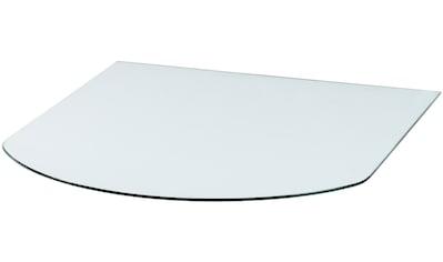 Glasbodenplatte »Halbrundbogen«, 85 x 110 cm, transparent, zum Funkenschutz kaufen