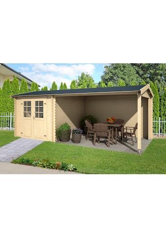 OUTDOOR LIFE PRODUCTS Gartenhaus »Ivana«, BxT: 590x295 cm, inkl. Anbaudach mit Rückwand kaufen
