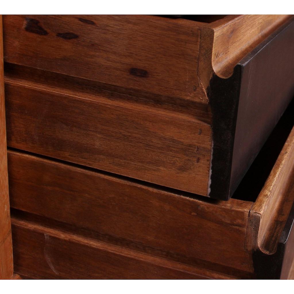 SIT Stauraumschrank »Mox«, farbiges Recyclingholz mit Eisen