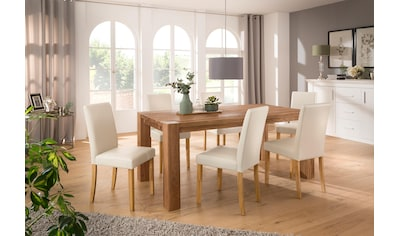Home affaire Essgruppe »Livara«, (Set, 7 tlg.), bestehend aus 6 Lucca Stühlen und dem Mary Esstisch kaufen