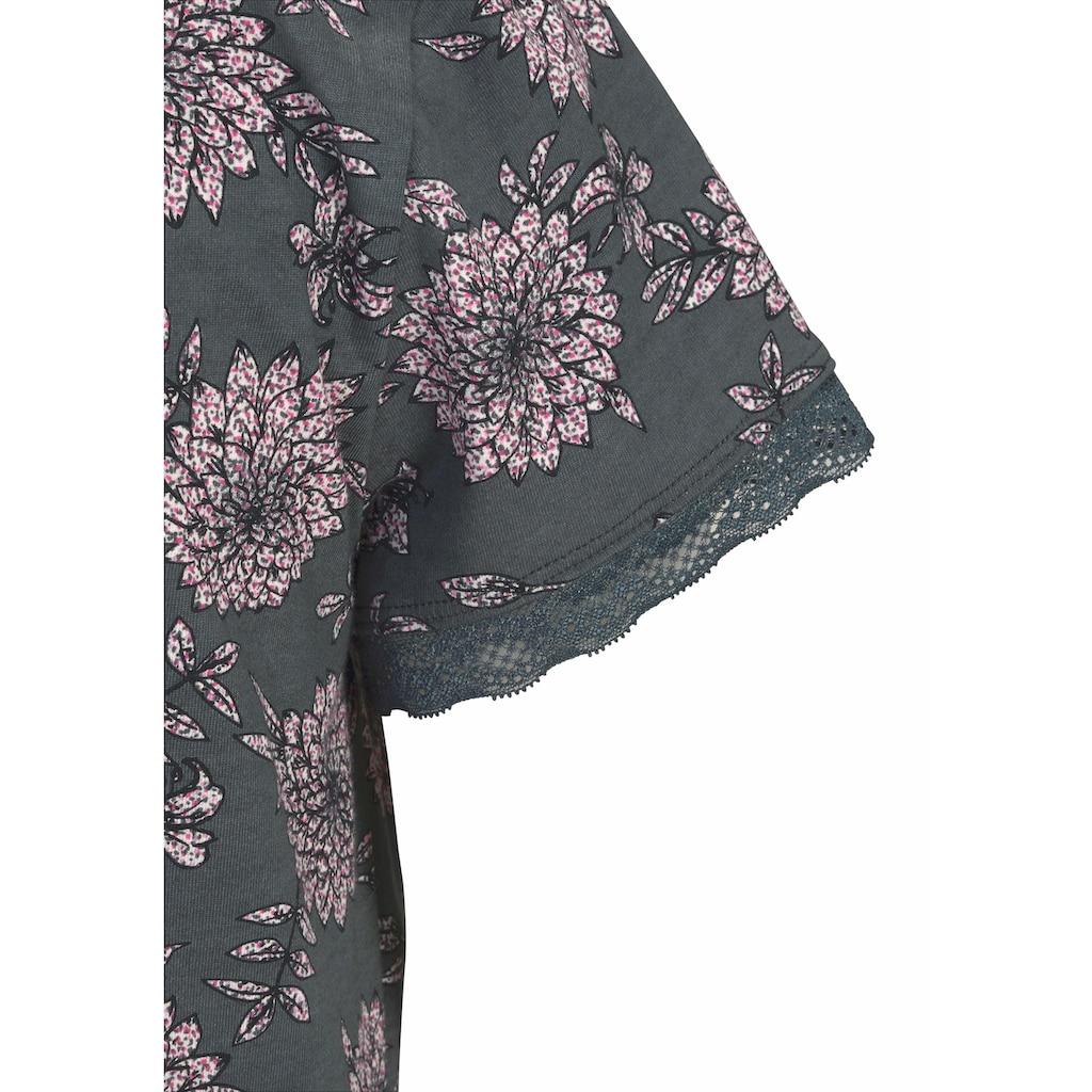 s.Oliver Nachthemd, mit Blumenmuster