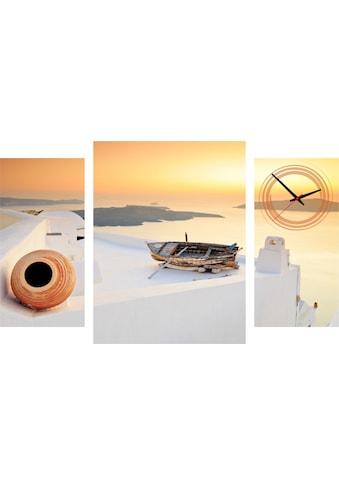 Conni Oberkircher´s Bild »Impression«, Sonnenuntergang, (Set), mit dekorativer Uhr kaufen