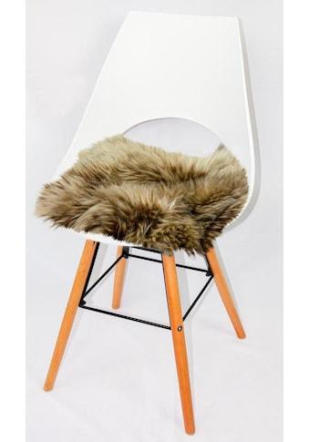 Heitmann Felle Stuhlkissen »Lamm, eckig«, Sitzauflage, eckig, 44x44 cm, echtes Lammfell, waschbar kaufen