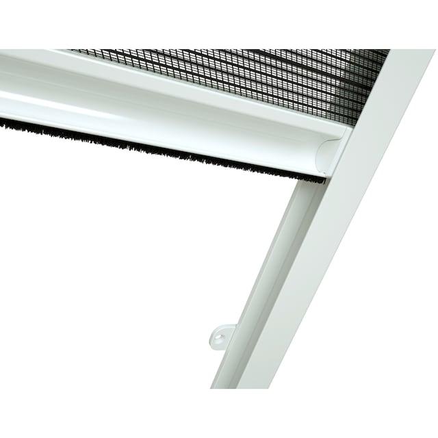 HECHT Insektenschutz-Dachfenster-Rollo weiß/anthrazit, BxH: 80x160 cm