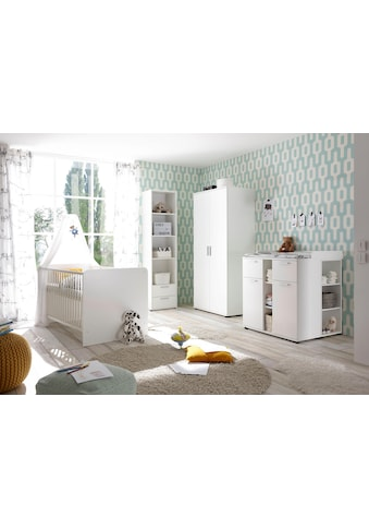 Babyzimmer-Komplettset »Bibo«, (Set, 3 tlg.), Bett + Wickelkommode + 2-trg. Schrank kaufen