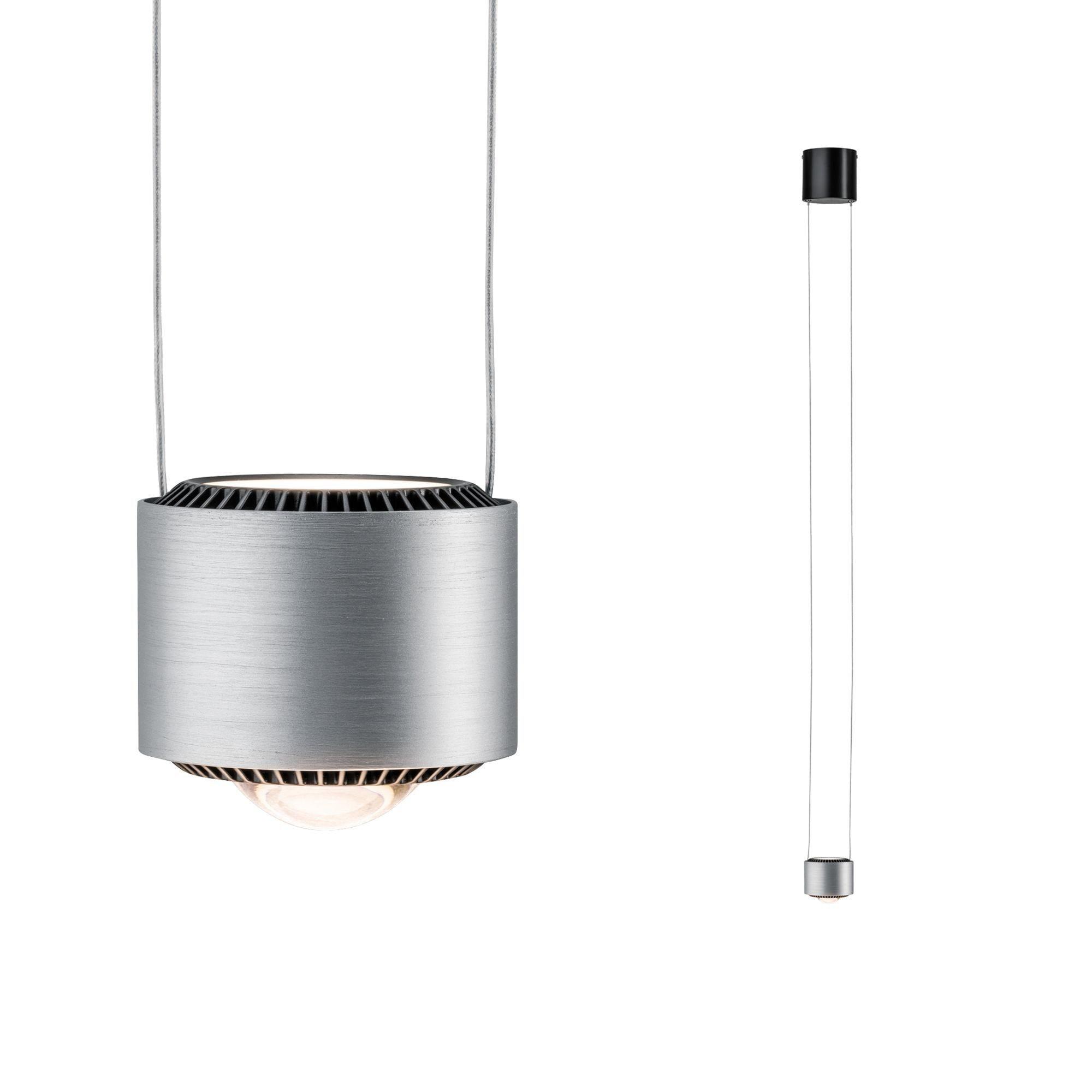 Paulmann LED Pendelleuchte Aldan 13W Schwarz/Alu gebürstet dimmbar, 1 St., Warmweiß