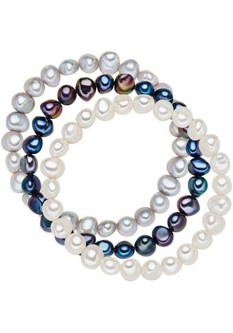 Valero Pearls Perlenarmband »Set: X744«, (3 tlg.), aus Süßwasser-Zuchtperlen kaufen