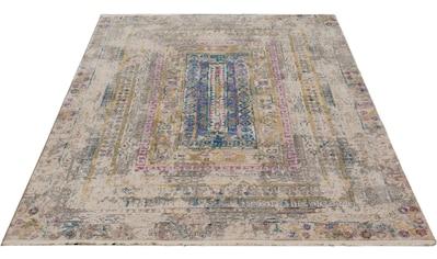 merinos Teppich »Colorful 24022«, rechteckig, 7 mm Höhe, Wohnzimmer kaufen
