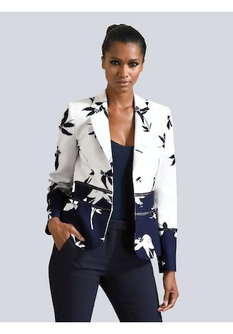 Alba Moda Blazer mit eingesetztem Spitzenband kaufen
