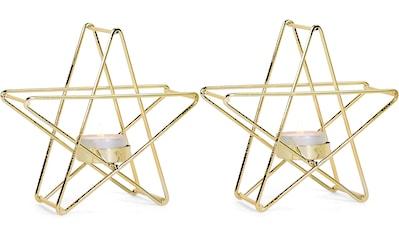 RIFFELMACHER & WEINBERGER Teelichthalter, Kerzenhalter aus Metall, in Sternfrom kaufen