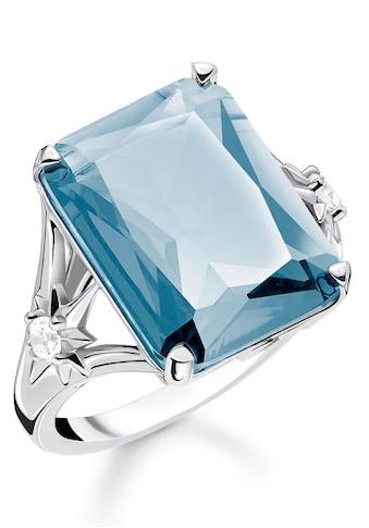 THOMAS SABO Silberring »Stein blau groß mit Stern, TR2261 - 644 - 31 - 52, 54, 56, 58, 60« kaufen