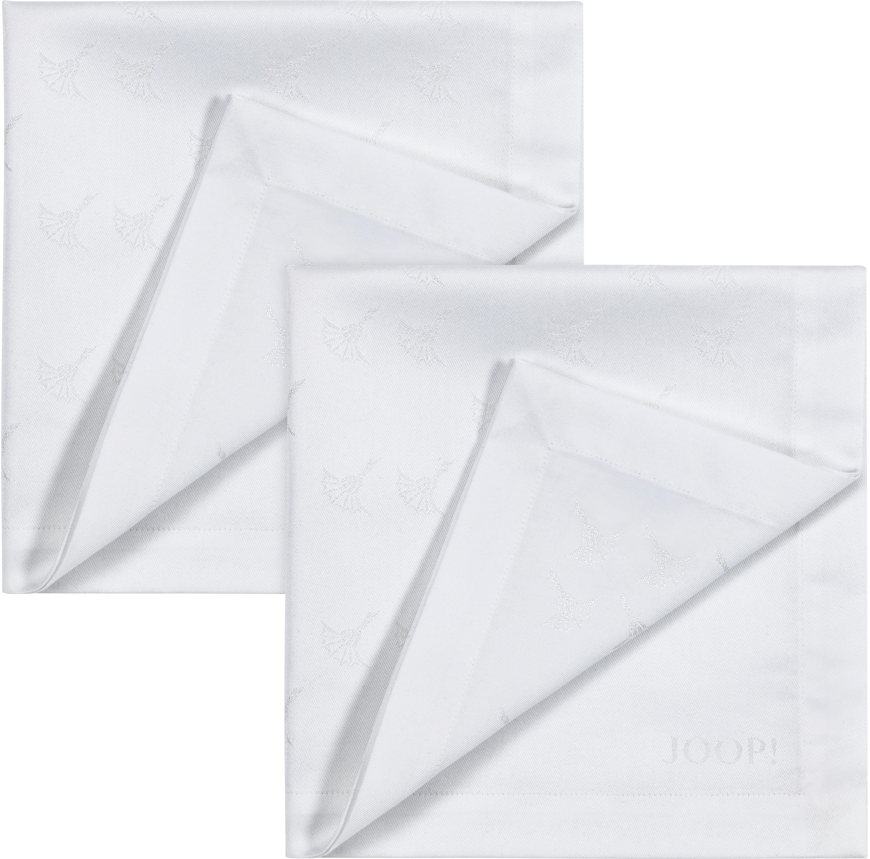 Joop! Joop Stoffserviette FADED CORNFLOWER, (Set, 2 St.), Aus Jacquard-Gewebe gerfertigt mit Kornblumen-Verlauf weiß Stoffservietten Tischwäsche