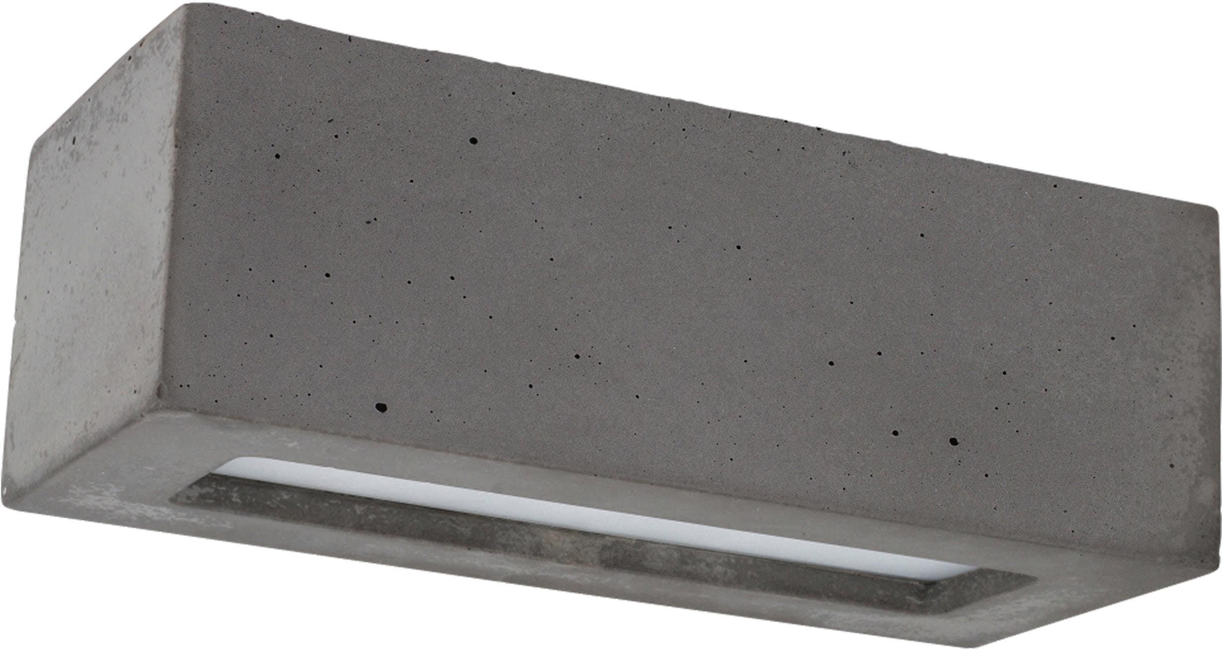 SPOT Light Wandleuchte BLOCK, E27, Naturprodukt aus echtem Beton, Handgefertigt, Made in EU