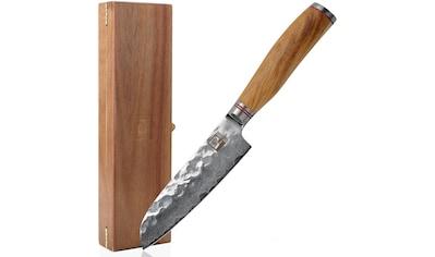 ZAYIKO Damastmesser, (kleines Santokumesser), Klingenlänge 12 cm, japanischer Damaststahl VG-10 kaufen