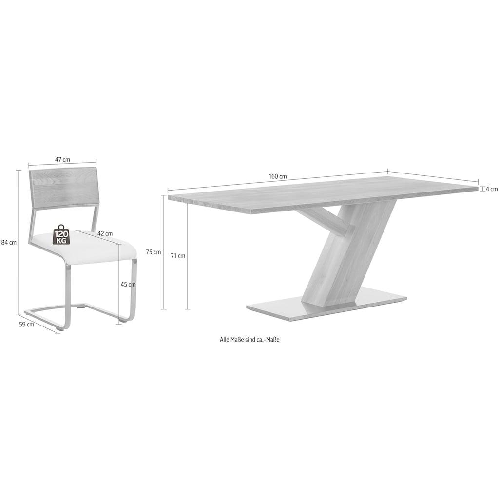 Premium collection by Home affaire Essgruppe, bestehend aus dem Tisch »Ranger« und den Stühlen »Aurea«