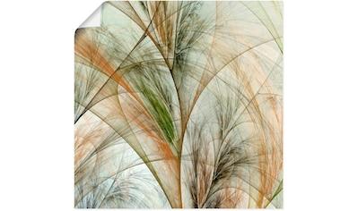 Artland Wandbild »Fraktales Gras IV«, Gräser, (1 St.), in vielen Größen & Produktarten - Alubild / Outdoorbild für den Außenbereich, Leinwandbild, Poster, Wandaufkleber / Wandtattoo auch für Badezimmer geeignet kaufen