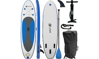 EXPLORER Inflatable SUP - Board »Explorer SUP 300 blau«, (Set, mit Paddel, Pumpe und Transportrucksack) kaufen