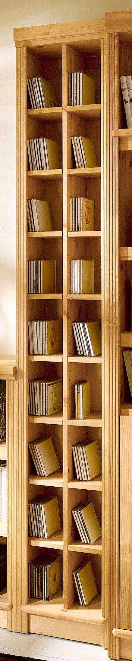 CD-Regal »Serie Soeren«, in 2 Höhen | Wohnzimmer > TV-HiFi-Möbel > CD- & DVD-Regale | Weiß | Massivholz - Kiefer - Gebeizt - Poliert | SERIE SOEREN