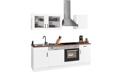 HELD MÖBEL Küchenzeile »Athen«, mit E-Geräten, Breite 220 cm, mit hochwertigen MDF... kaufen