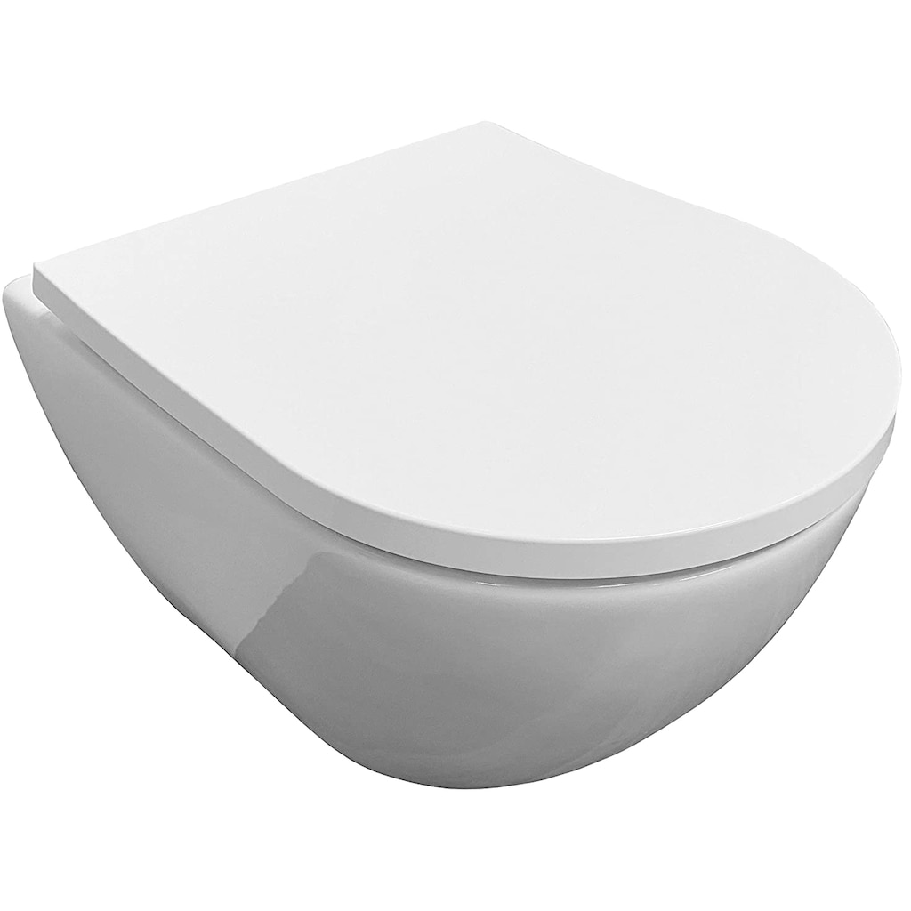 ADOB Tiefspül-WC, mit passendem WC-Sitz und Absenkautomatik
