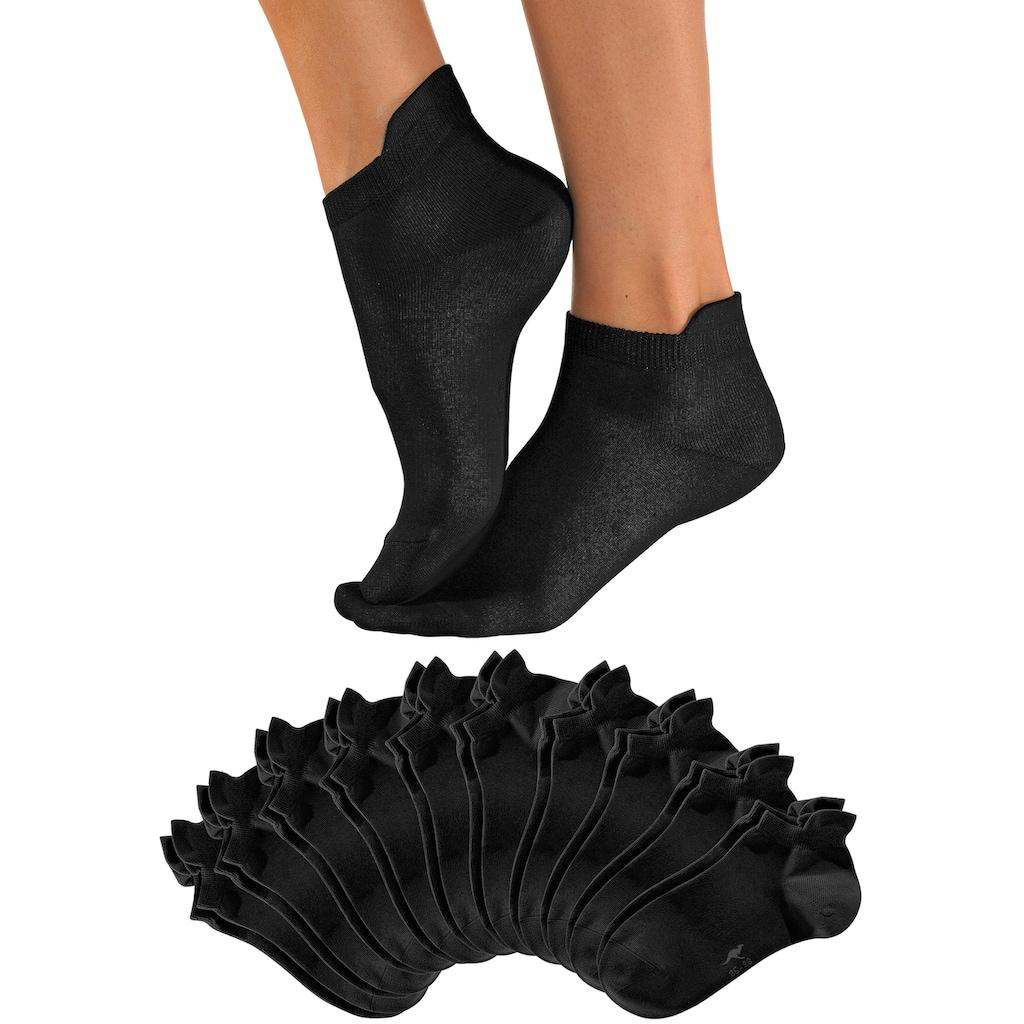 KangaROOS Sneakersocken, (10 Paar), mit erhöhtem Bündchen