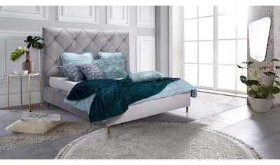 Leonique Polsterbett »Mero«, mit schöner Knopfheftung im Rückenteil, inkl. Bettkasten kaufen