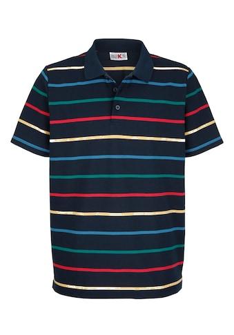 Roger Kent Poloshirt mit garngefärbtem Streifenmuster kaufen