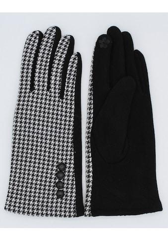 leslii Handschuhe mit modischem Hahnentritt-Muster kaufen