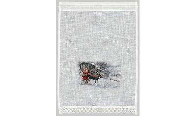 HOSSNER - ART OF HOME DECO Scheibengardine »Weihnachtsmann«, Landhaus-Look kaufen