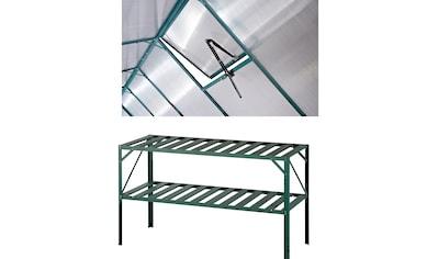 KONIFERA Set: Pflanztisch BxTxH: 126x50x75 cm, Inkl. Fensteröffner, grün kaufen