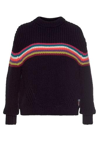Superdry Strickpullover »NEON STRIPE RIBBED CREW«, kuscheliger Pullover in knalligen Farben kaufen