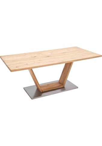 MCA furniture Esstisch »Greta«, Esstisch Massivholz mit Baumkante, gerader Kante oder... kaufen