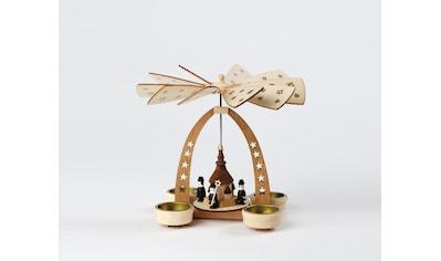 HGD Holz - Glas - Design Tischpyramide für vier Teelichte Kurrende kaufen