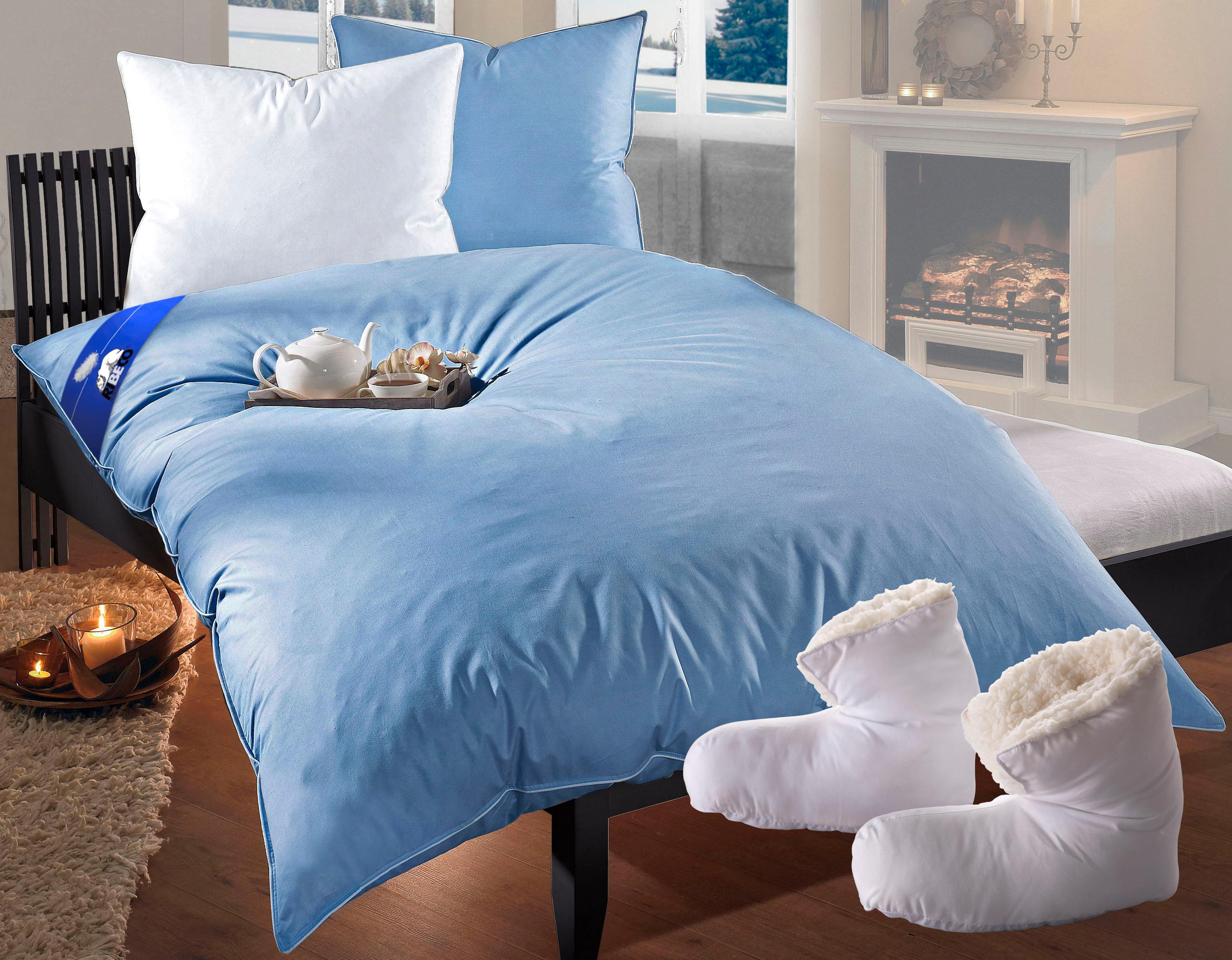 Federbettdecke, »Liam«, RIBECO, extrawarm, Füllung: 85% Federn, 15% Daunen, (2-tlg.) | Heimtextilien > Decken und Kissen > Bettdecken | Federn | RIBECO