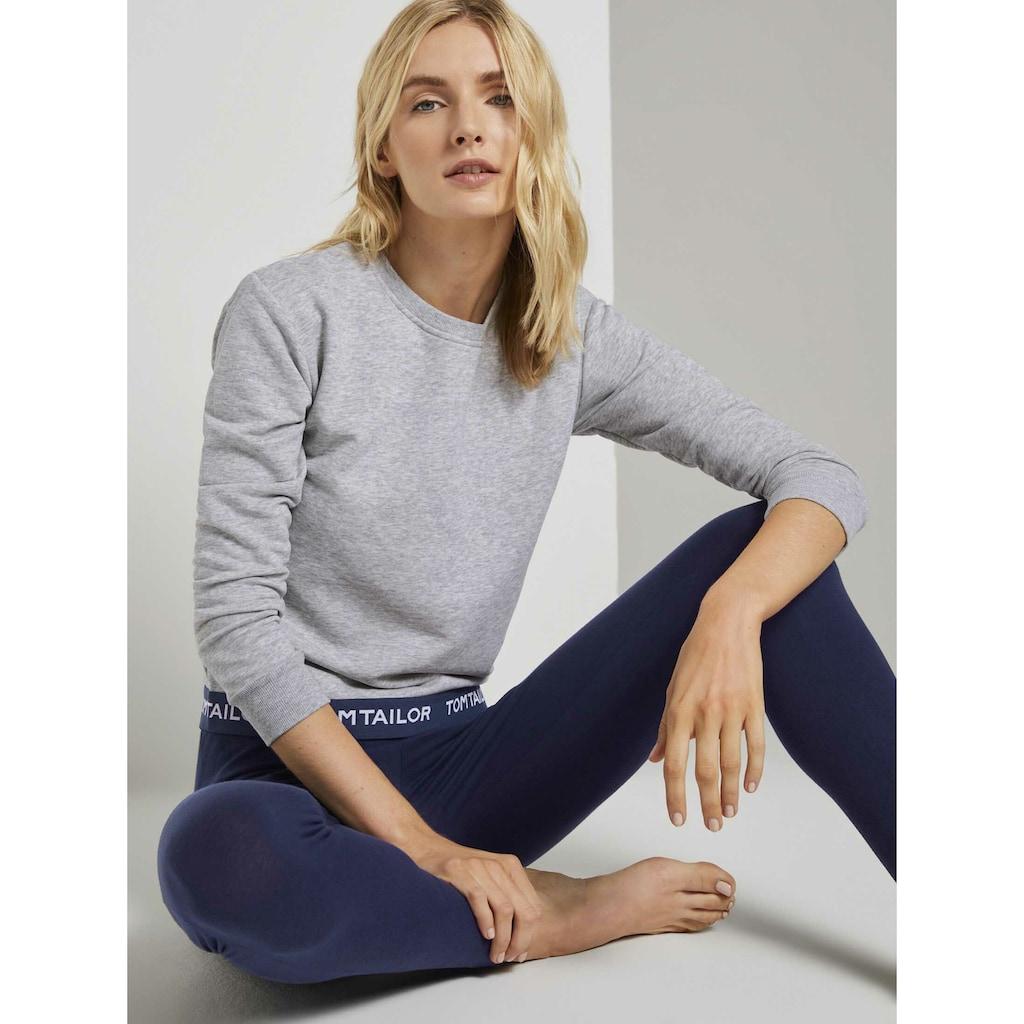 TOM TAILOR Langarmshirt »Pyjama Sweatshirt«