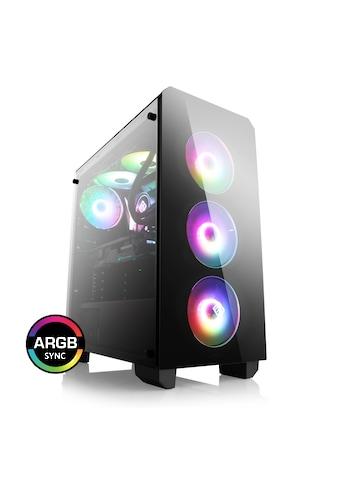 BoostBoxx Gehäuse Sichtfenster, schwarz, RGB Beleuchtung mit 4 RGB Lüftern »BoostBoxx Theseus« kaufen