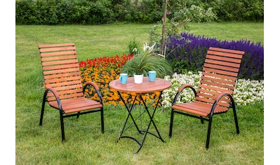 MERXX Gartenmöbelset »Schloßgarten«, 3tlg., 2 Sessel, Tisch, stapelbar, Eukalyptusholz kaufen
