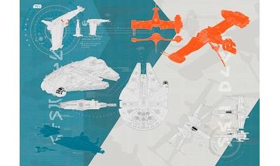 KOMAR Set: Fototapete »Star Wars – Technical Plan«, Ausgezeichnet lichtbeständig kaufen