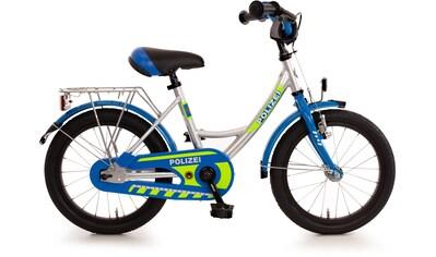 """Bachtenkirch Kinderfahrrad »Kinderfahrrad """"Polizei"""", blau/silber/neon-gelb«, 1 Gang kaufen"""