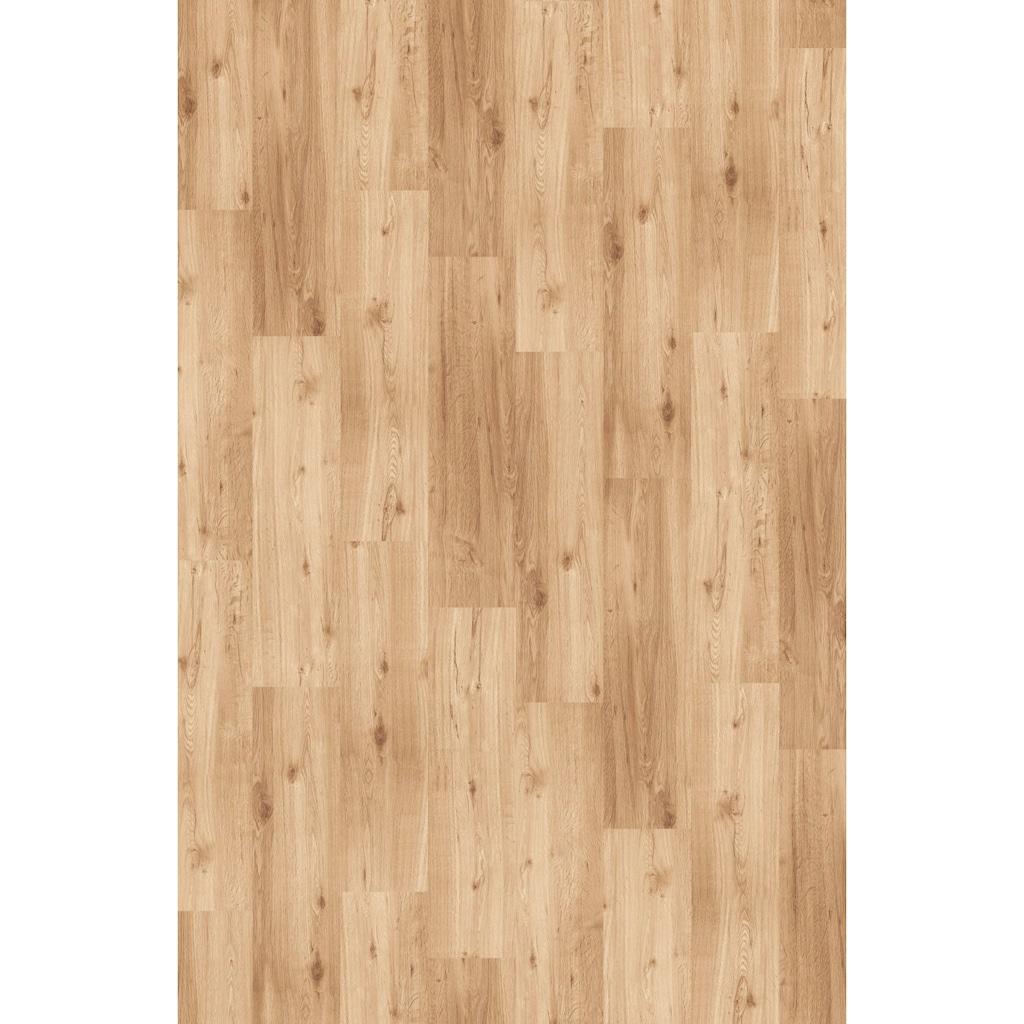 Infloor Teppichfliese »Velour Holzoptik Eiche natur«, rechteckig, 6 mm Höhe, 14 Stück, 4 m², 25 x 100 cm, selbsthaftend, für Stuhlrollen geeignet