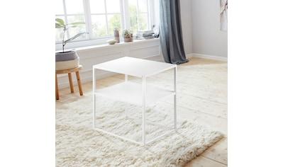andas Nachttisch »Vilho«, aus einem schönen weißen Metallgestell und einer... kaufen