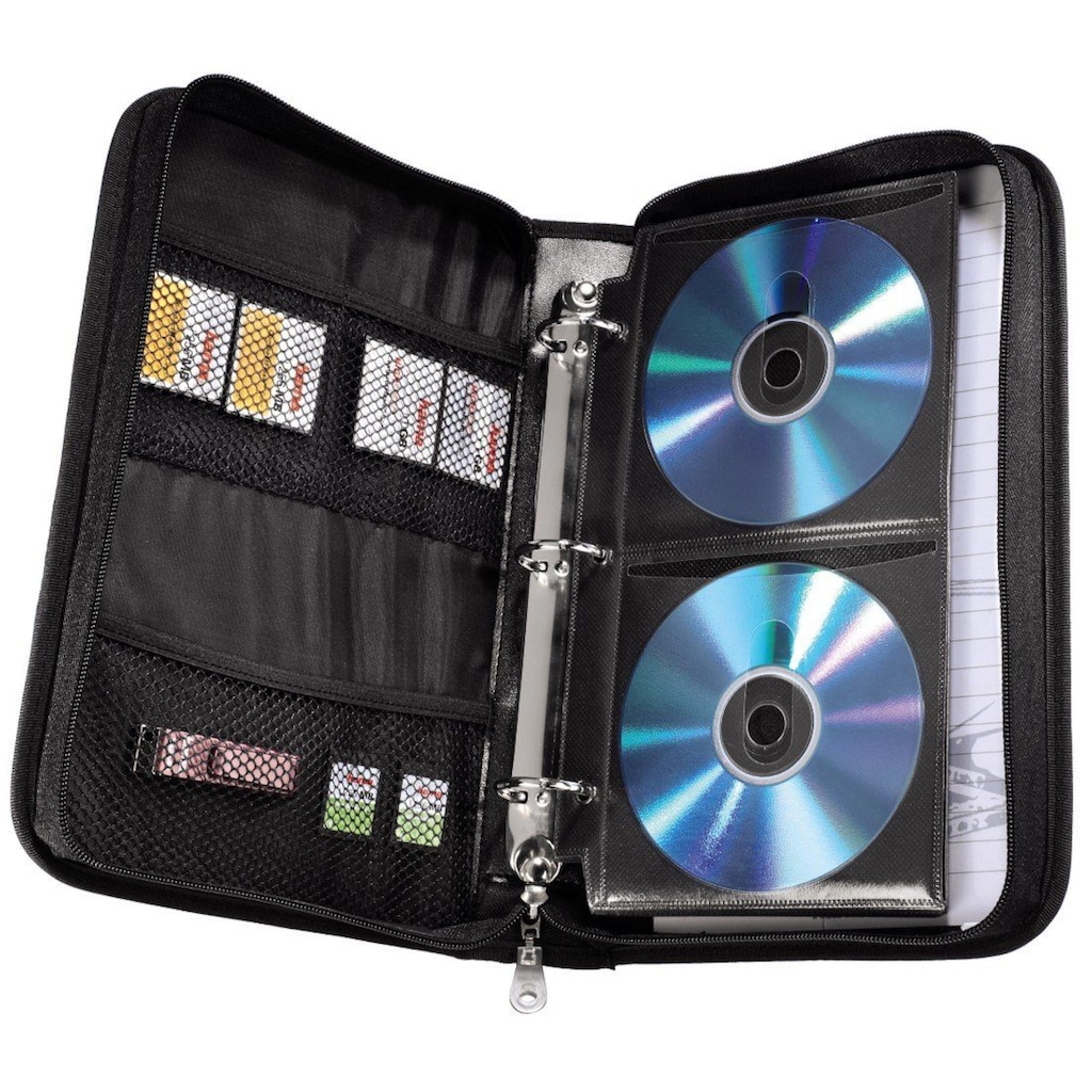 Hama Office-Wallet 64, Schwarz/Blau »Disc-Tasche«