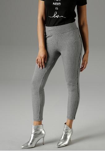 Aniston SELECTED Leggings, mit Zierpaspel in der Seitennaht - NEUE KOLLEKTION kaufen