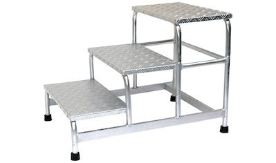 SZ METALL Trittleiter, Aluminium, 3-stufig kaufen
