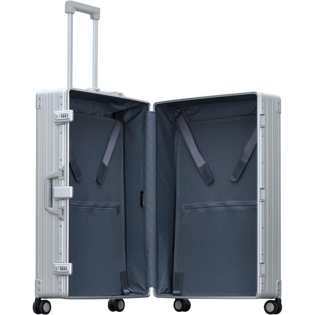 ALEON Hartschalen-Trolley »Aluminiumkoffer Macro Traveler, 76 cm«, 4 Rollen, inkl. Schutzhülle