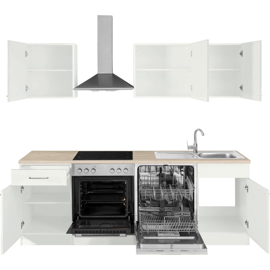 wiho Küchen Küchenzeile »Zell«, ohne E-Geräte, Breite 220 cm