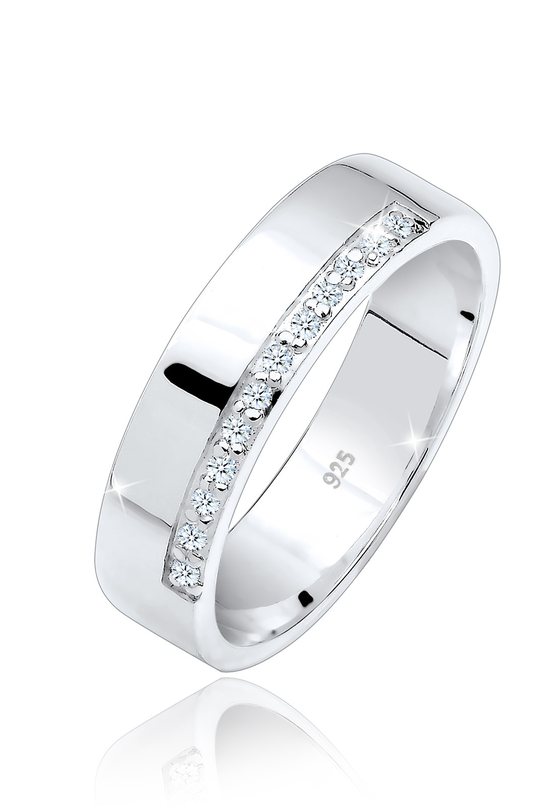 Elli Diamantring Bandring Basic Diamanten 012 ct 925 Silber | Schmuck > Ringe > Diamantringe | Elli