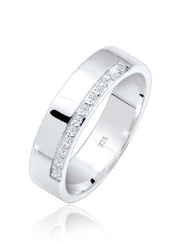 Elli Diamantring »Bandring Basic Diamanten 0.12 ct. 925 Silber« kaufen