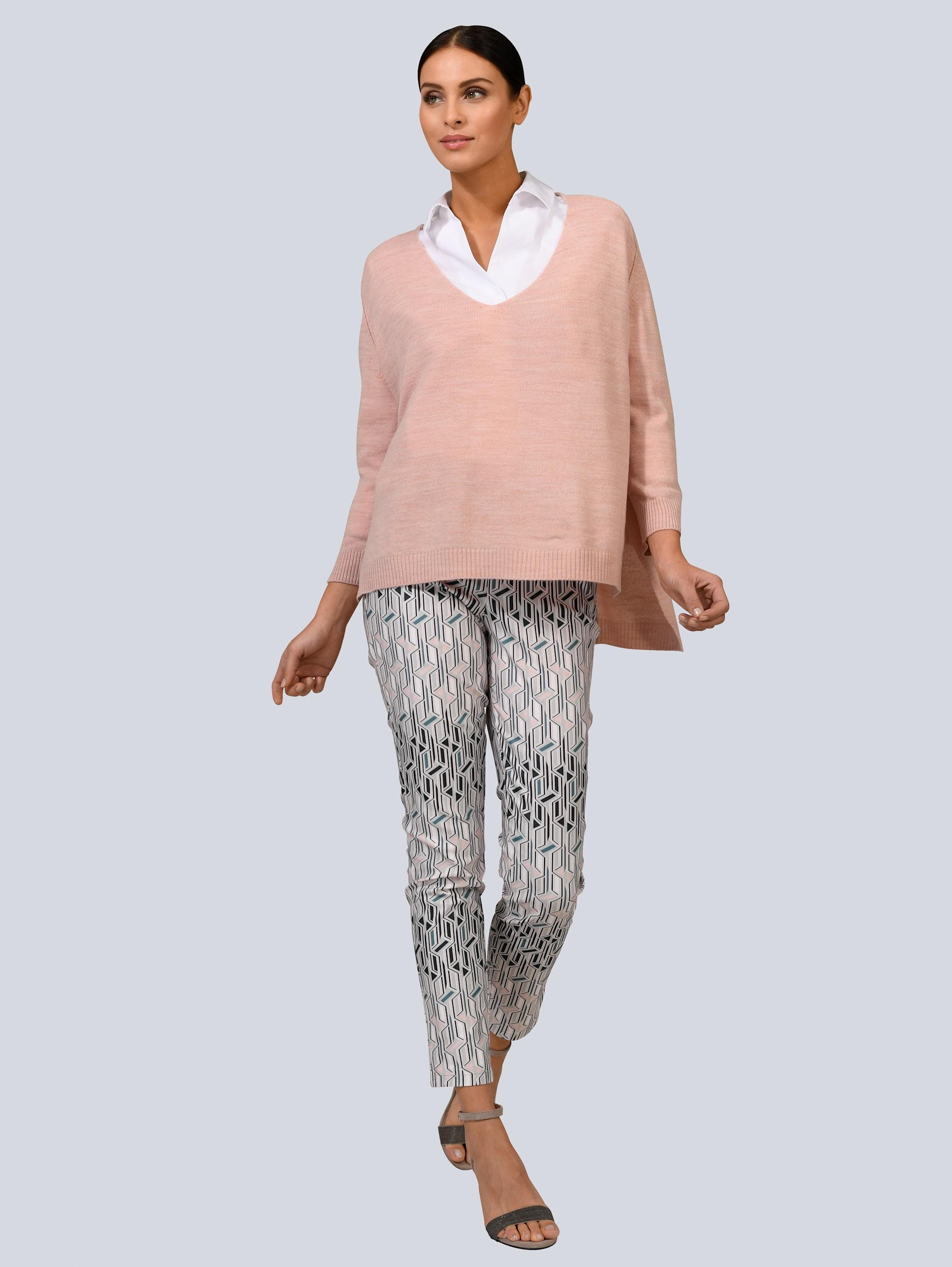 alba moda -  Stoffhose, im grafischen Dessin allover